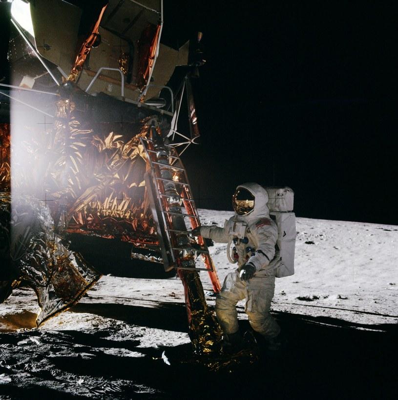 """Na zdjęciu: Alan Bean. Załoga Apollo 12 była """"tą drugą"""", po Armstrongu i Aldrinie, ale ich misja była równie istotna                                                              Fot. NASA /materiały prasowe"""
