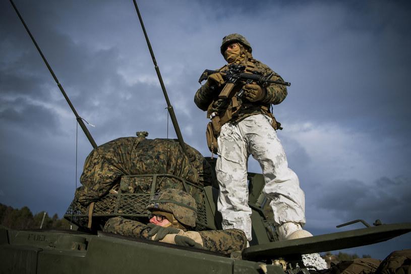 Na zdjęciu: Amerykańscy marines w Norwegii /JONATHAN NACKSTRAND /AFP