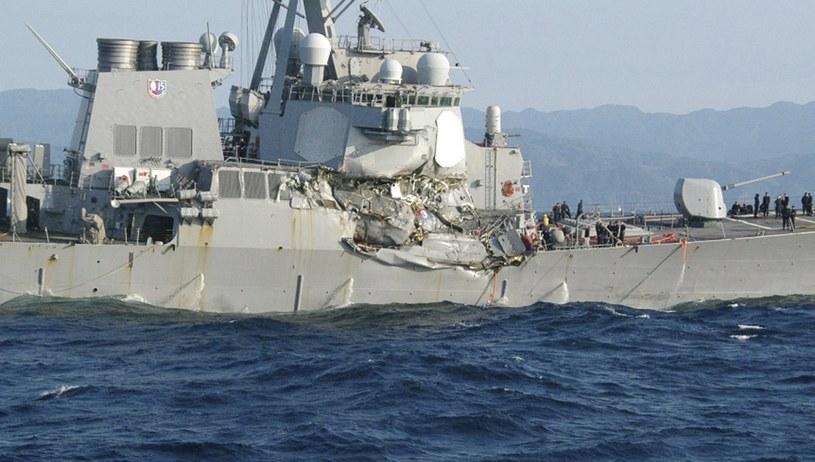 Na zdjęciu amerykański niszczyciel USS Fitzgerald /PAP/EPA