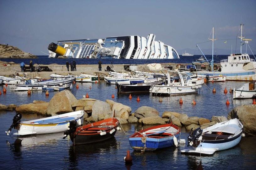 Na zdjęciu archiwalnym wrak Costa Concordii /AFP