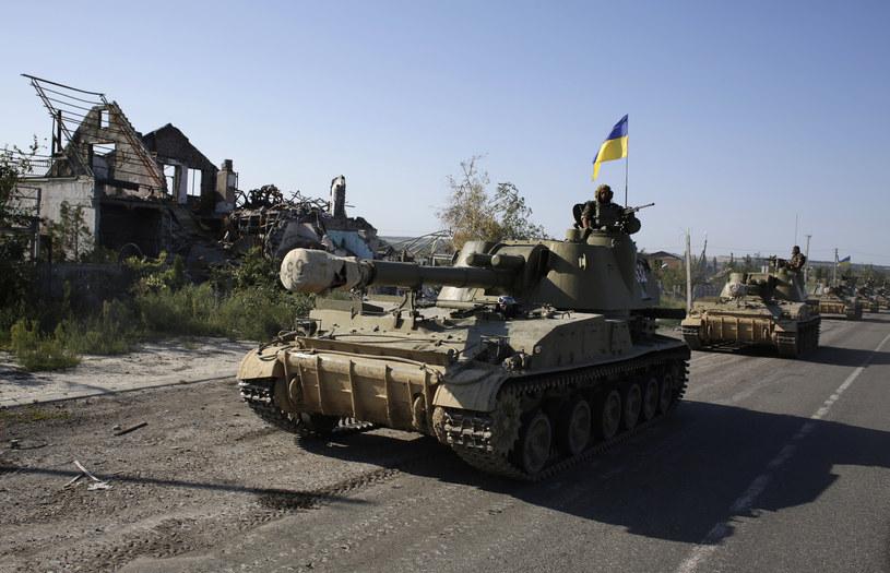 Na zdjęciu armia ukraińska w Doniecku, 3 września 2014 /ANATOLII STEPANOV /AFP