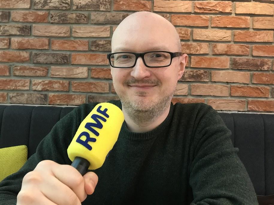 """Na zdjęciu autor książki """"Wieki bezwstydu"""" Adam Węgłowski /Michał Dobrołowcz /RMF FM"""