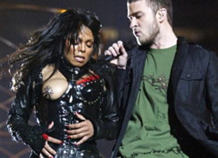 """Na zdjęciu: """"awaria garderoby"""" Janet Jackson, Houston, luty 2004 /AFP"""