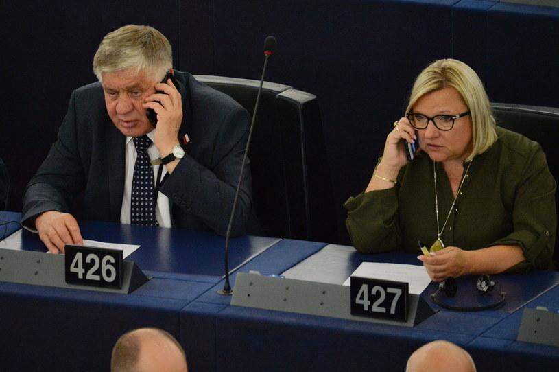 Na zdjęciu Beata Kempa i Krzysztof Jurgiel /Aleksiej Witwicki /Agencja FORUM