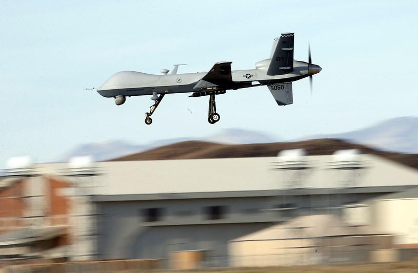 Na zdjęciu: Bezzałogowy statek powietrzny MQ-9 /Isaac Brekken /AFP
