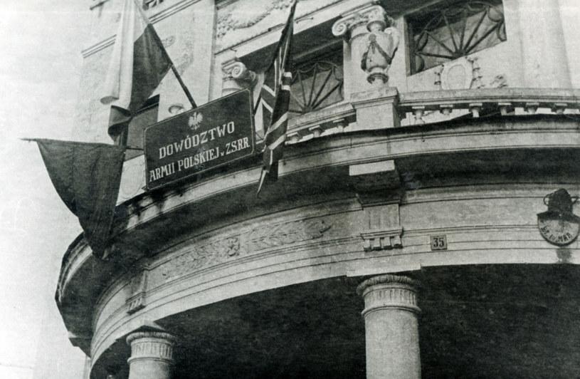 Na zdjęciu budynek Dowodztwa Armii Polskiej w ZSRR /Archiwum Karola Małcużyńskiego /East News