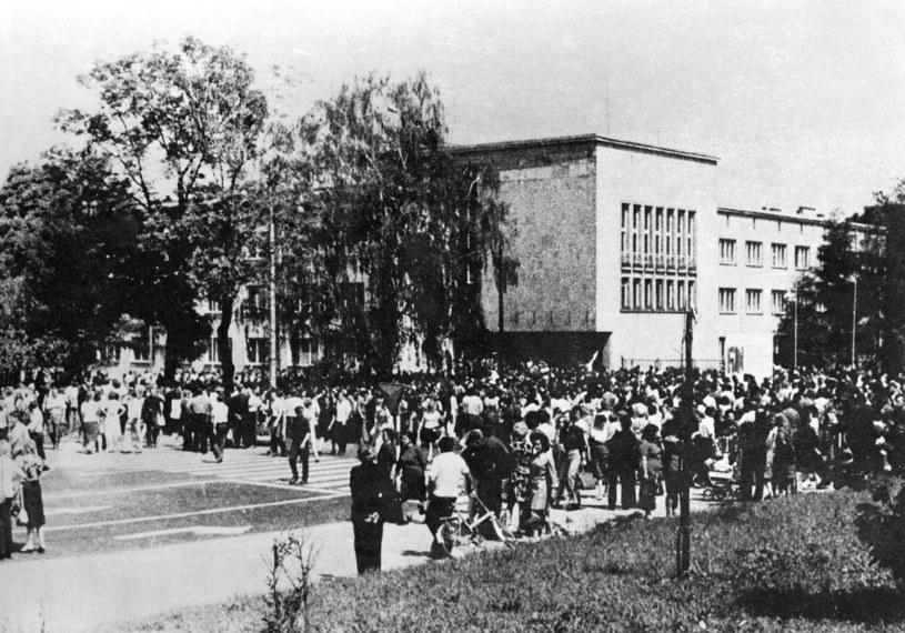 Na zdjęciu: Demonstracja w Radomiu w czerwcu 1976 roku /Tomasz Wierzejski/Fotonova /East News