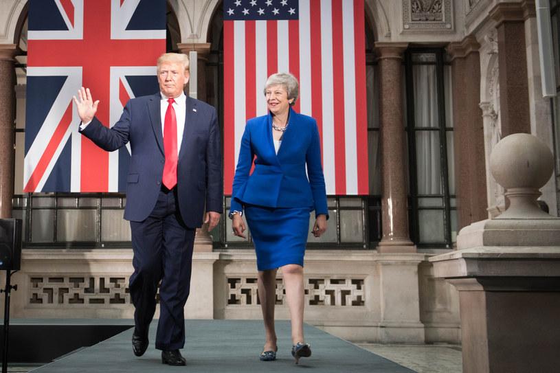 Na zdjęciu Donald Trump i Theresa May /STEFAN ROUSSEAU / POOL /AFP