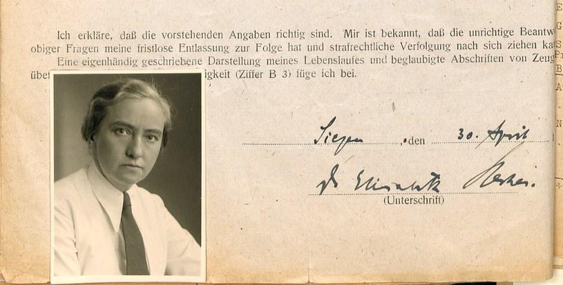 Na zdjęciu Elisabeth Hecker. Fot. Archiv LWLBest.132402 /