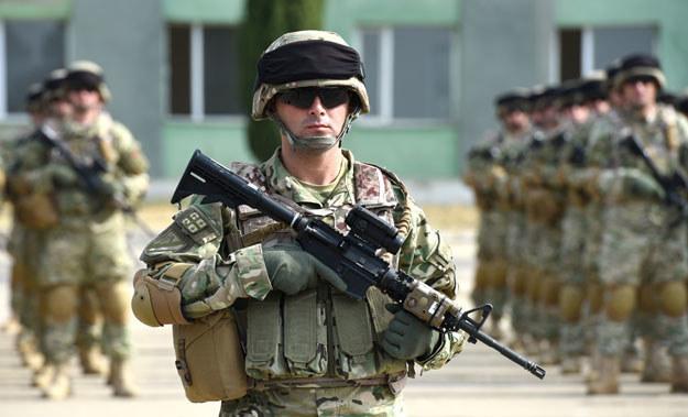 Na zdjęciu: Gruzińscy żołnierze /AFP