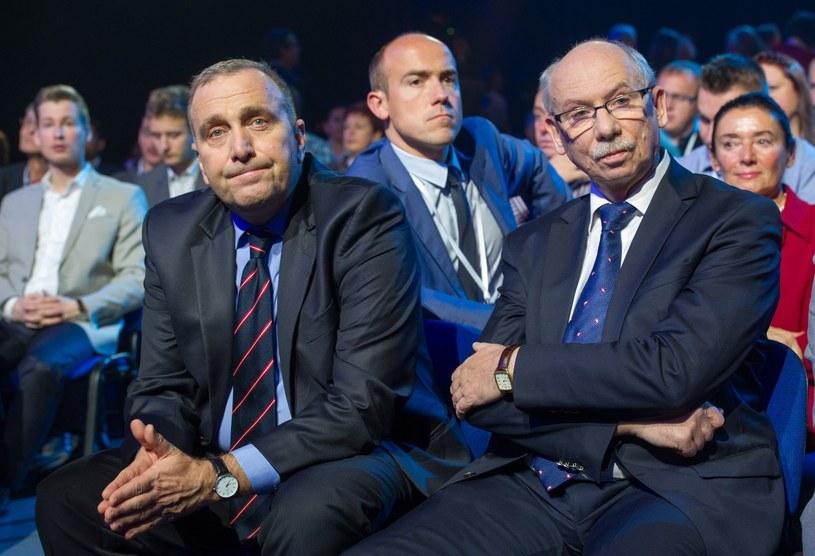Na zdjęciu: Grzegorz Schetyna, Borys Budka i Janusz Lewandowski /Jacek Domiński /Reporter