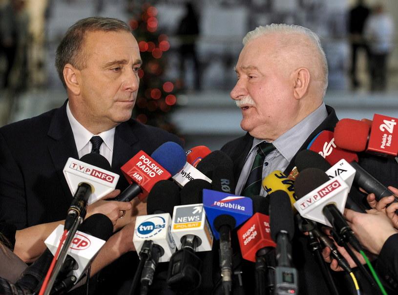 Na zdjęciu Grzegorz Schetyna i Lech Wałęsa /Marcin Obara /PAP