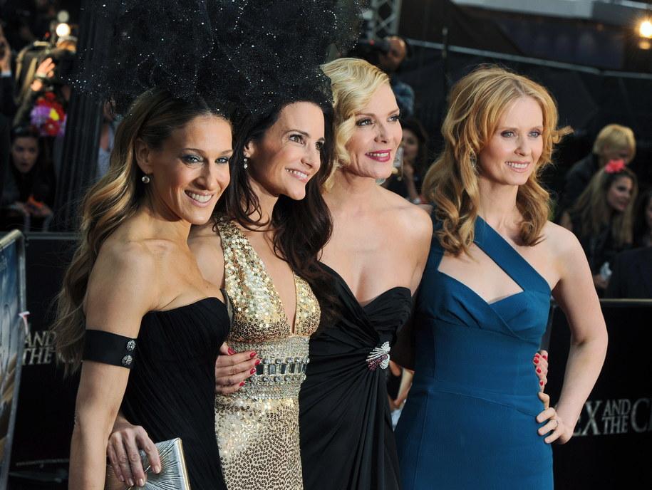 """Na zdjęciu gwiazdy serialu """"Seks w wielkim mieście"""": Sarah Jessica Parker, Kristin Davis, Kim Cattrall i Cynthia Nixon /Daniel Deme /PAP/EPA"""
