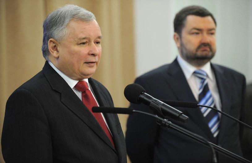 Na zdjęciu Jarosław Kaczyński i Karol Karski /Donat Brykczyński /Reporter
