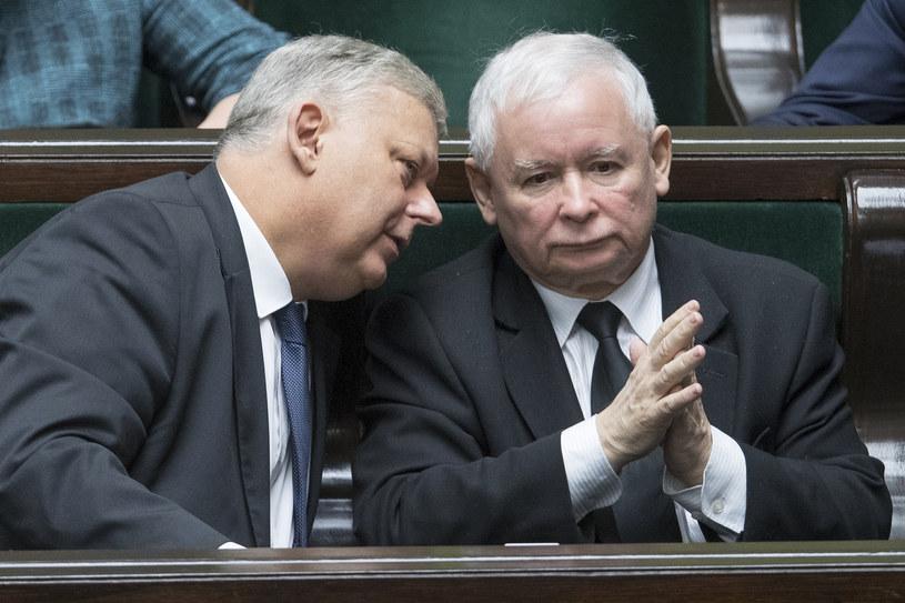 Na zdjęciu Jarosław Kaczyński i Marek Suski /fot. Andrzej Iwanczuk/REPORTER /Reporter