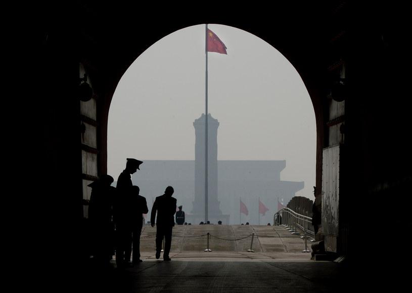 Na zdjęciu jedno z wejść na plac Tiananmen /MARK RALSTON /AFP
