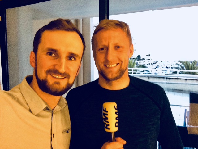 Na zdjęciu Kamil Glik i autor wywiadu Łukasz Król /RMF FM