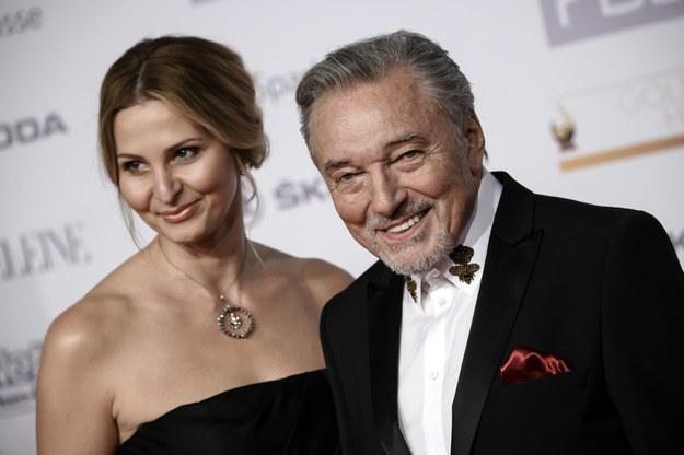 Na zdjęciu Karel Gott z żoną Ivaną /Clemens Bilan /PAP/EPA