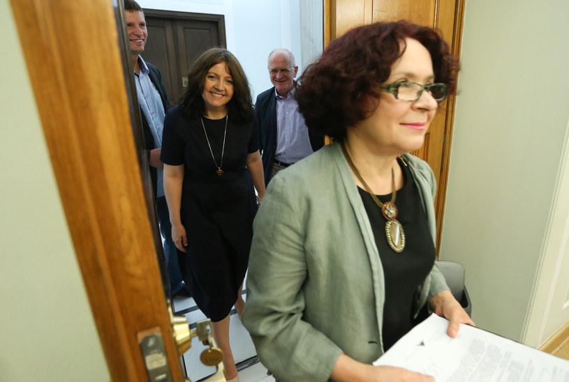 Na zdjęciu kolejno Elżbieta Kruk, Joanna Lichocka, Krzysztof Czabański /Polska Press /East News