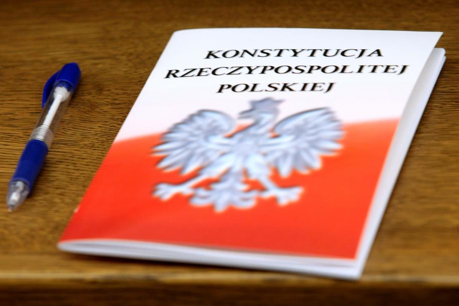 Na zdjęciu Konstytucja RP / Leszek Szymański    /PAP