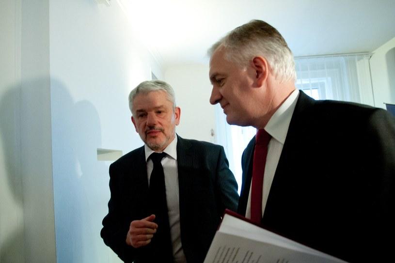 Na zdjęciu Krzysztof Brzózka i Jarosław Gowin (2012 r.) /Krystian Maj/Reporter /Reporter