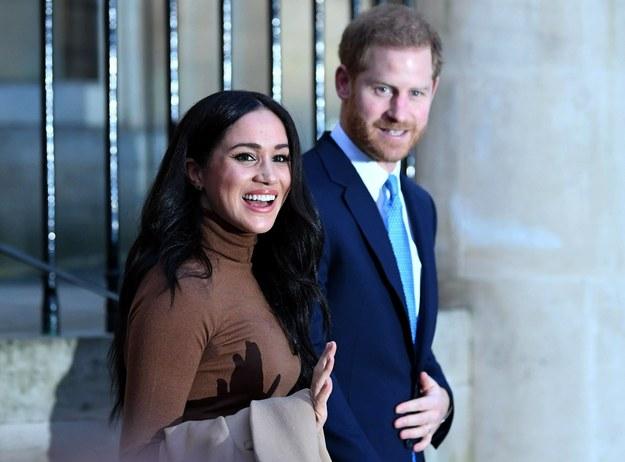 Na zdjęciu książę Harry z żoną Meghan /Photoshot    /PAP/EPA