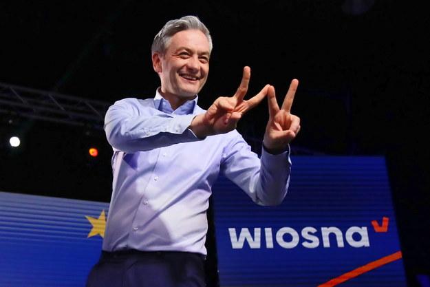 Na zdjęciu lider Wiosny Robert Biedroń /Leszek Szymański /PAP
