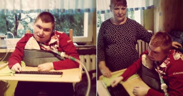 Na zdjęciu Maks z Mamą (Siepomaga.pl) /Internet