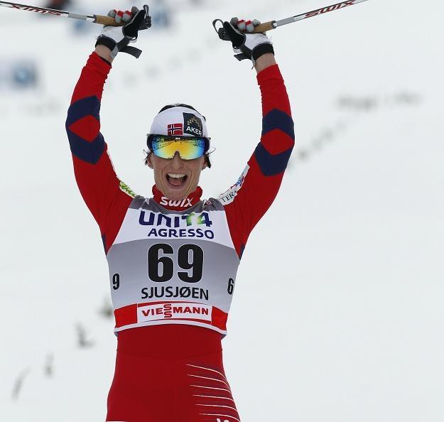 Na zdjęciu Marit Bjoergen, triumfatorka sobotnich zawodów w Sjusjoen /AFP