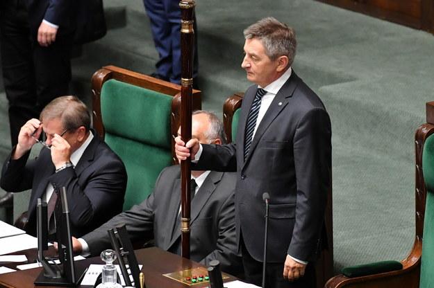 Na zdjęciu marszałek Marek Kuchciński /Piotr Nowak /PAP