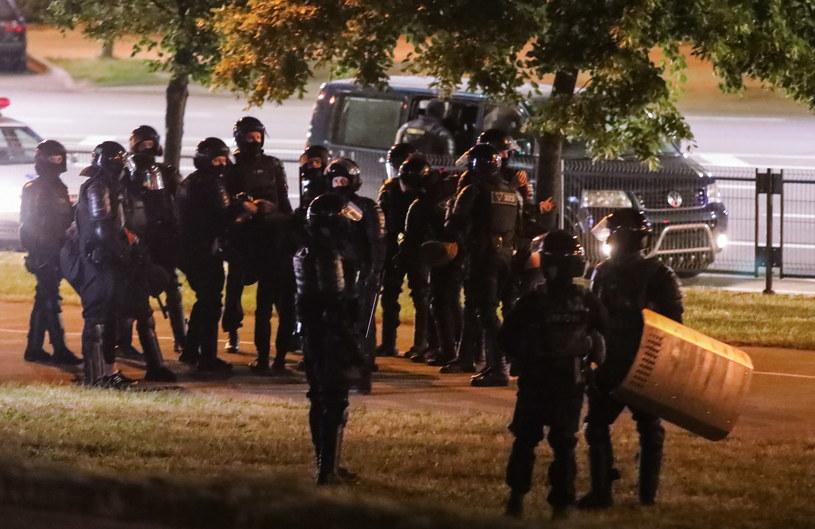 Na zdjęciu: Milicja w Mińsku / STR   /PAP/EPA