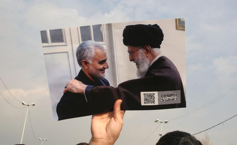 Na zdjęciu: Najwyższy Przywódca Iranu Ali Chamenei i Kasem Sulejmani  Ali Chamenei /AFP