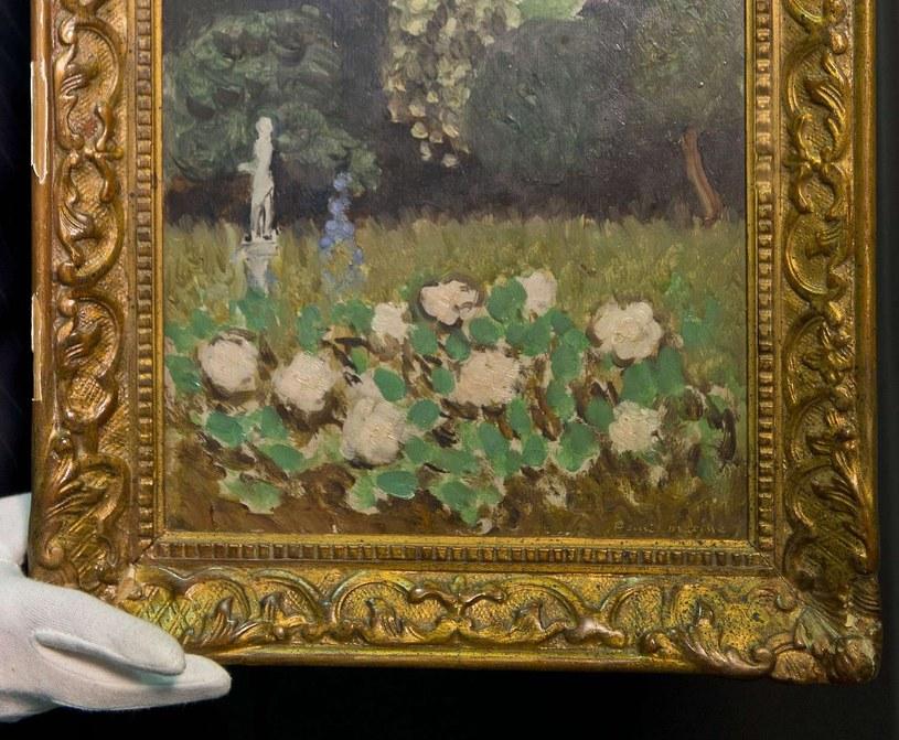 "Na zdjęciu obraz ""Ogród"" Matisse'a odnaleziony dzięki Art Loss Register. /AFP"
