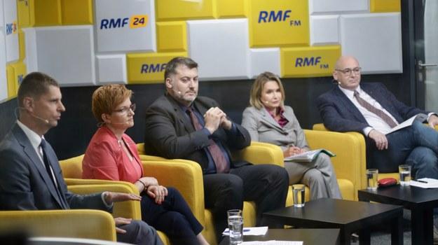 Na zdjęciu od lewej: Dariusz Piontkowski, Urszula Augustyn, Artur Dziambor, Małgorzata Niewiadomska-Cudak i Piotr Zgorzelski /Karolina Bereza /RMF FM