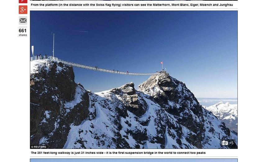 "Na zdjęciu ""Peak Walk"" /dailymail.co.uk/Reuters /"
