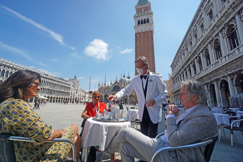 Na zdjęciu: Plac Świętego Marka w Wenecji /ANDREA MEROLA /PAP/EPA