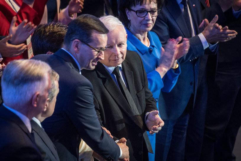 Na zdjęciu politycy partii rządzącej /Jacek Dominski/REPORTER /Reporter