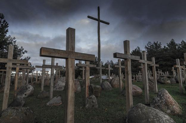 Na zdjęciu: Pomnik ofiar obławy augustowskiej w Gibach /Jerzy Undro /Reporter