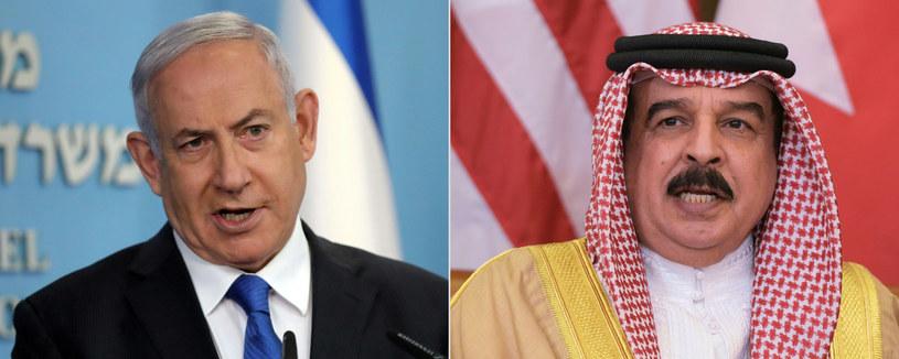 Na zdjęciu premier Izraela Benjamin Netanyahu i król Bahrajnu Hamad ibn Isa al-Chalifa /AFP