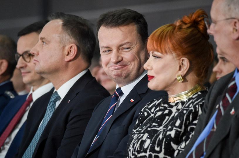Na zdjęciu: premier, prezydent, szef MON oraz ambasador USA /Zbyszek Kaczmarek /Reporter