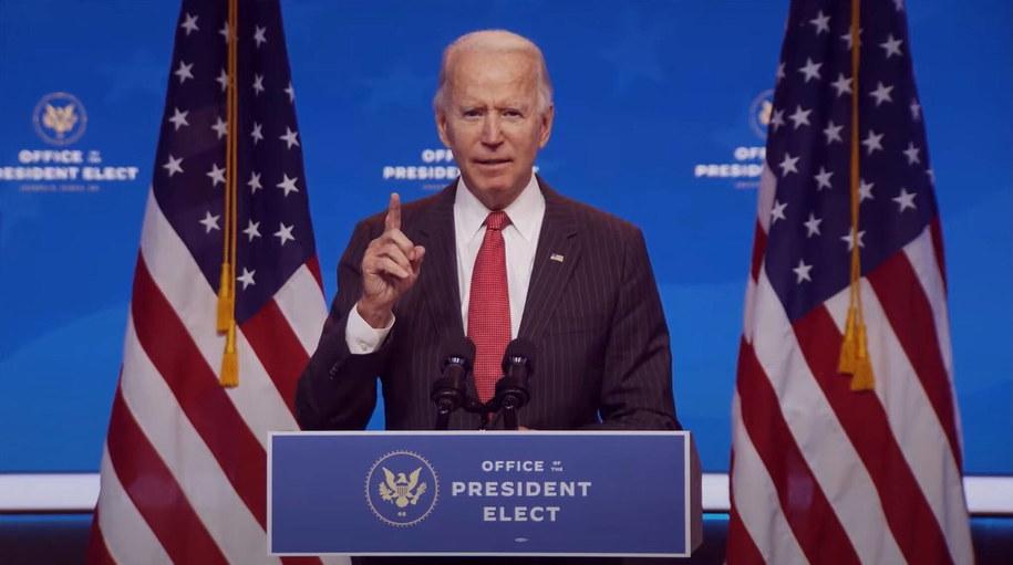 Na zdjęciu prezydent-elekt Joe Biden /OFFICE OF THE PRESIDENT ELECT/HANDOUT /PAP/EPA