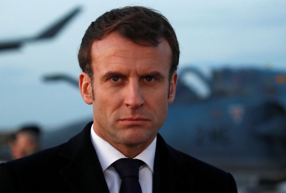 Na zdjęciu prezydent Francji Emmanuel Macron /GONZALO FUENTES  /PAP/EPA