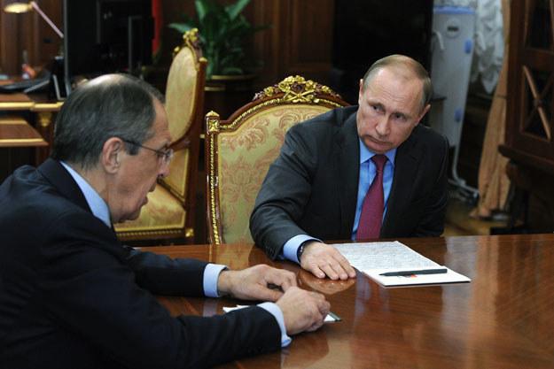 Na zdjęciu prezydent Rosji Władimir Putin i minister spraw zagranicznych Siergiej Ławrow /AFP