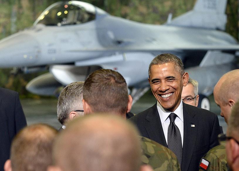 Na zdjęciu prezydent USA Barack Obama w trakcie wizyty w Polsce /Janek Skarżyński /AFP