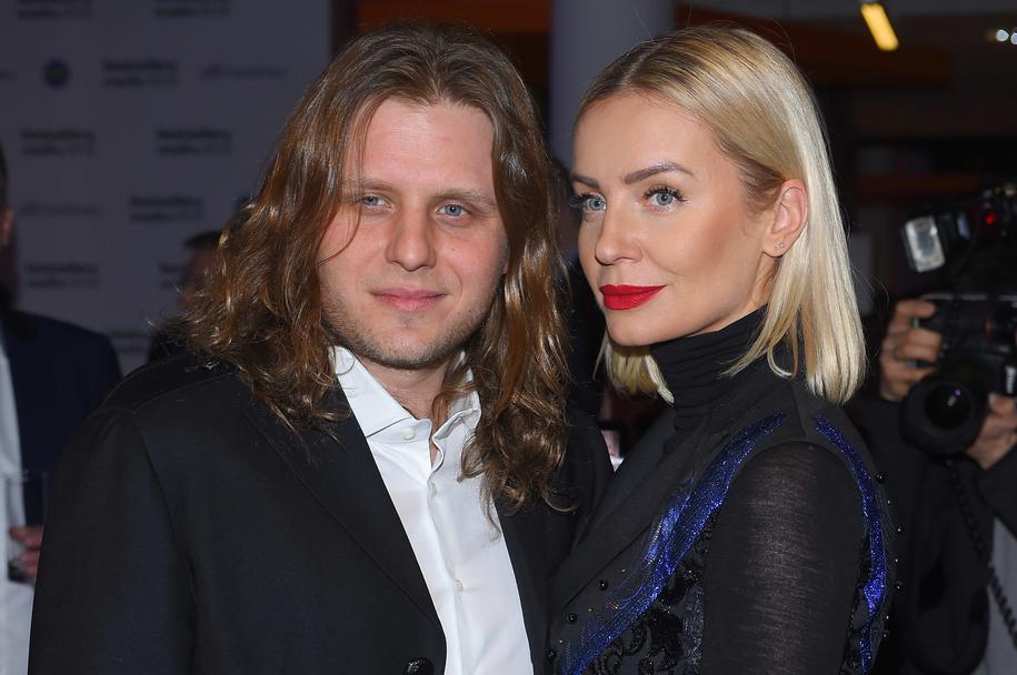 Na zdjęciu producent filmowy Piotr Woźniak-Starak z żoną, dziennikarką Agnieszką /Archiwum Leszczyński /PAP