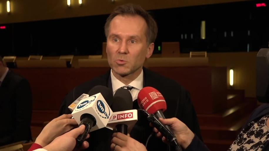 Na zdjęciu prok. Tomasz Szafrański /TVN24/x-news /