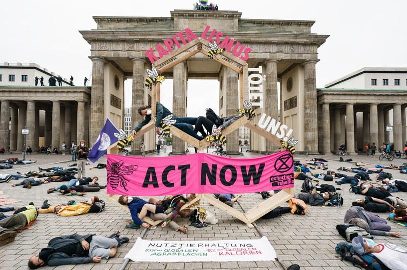 Na zdjęciu: protest Extinction Rebellion w stolicy Niemiec Berlinie w miniony piątek /PAP/EPA/CLEMENS BILAN /PAP/EPA