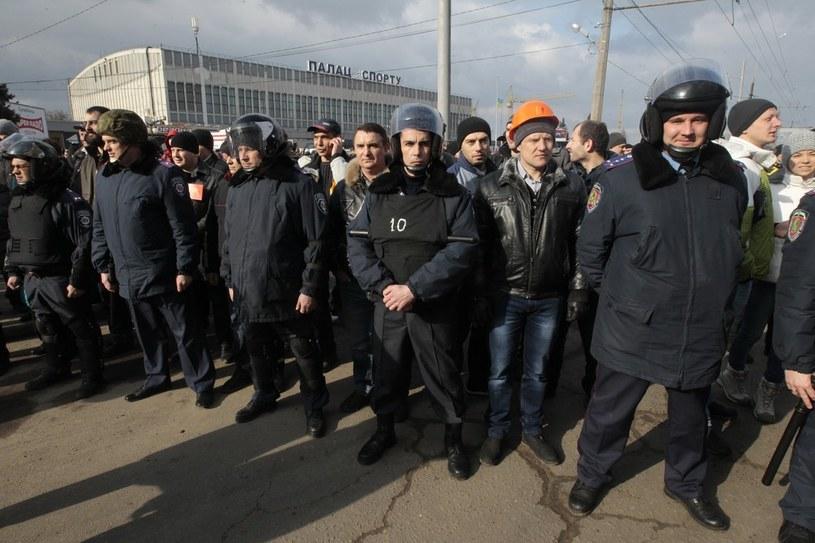 Na zdjęciu protestujący w Charkowie /AP Photo/Sergei Chuzavkov /East News