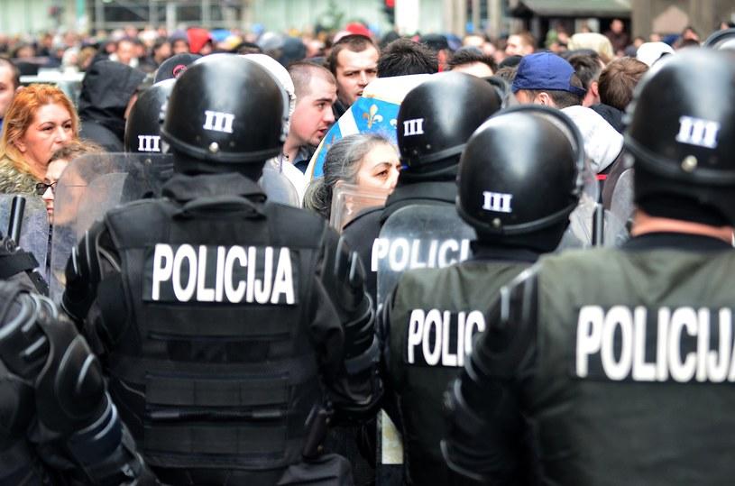 Na zdjęciu protesty w Sarajewie /ELVIS BARUKCIC /AFP