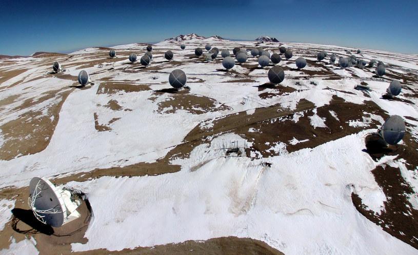 Na zdjęciu radioteleskopy na pustyni Atacama /ARIEL MARINKOVIC  /AFP